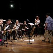 DK, Rebecca Shrimpton and saxes